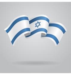 Israeli waving Flag vector image vector image