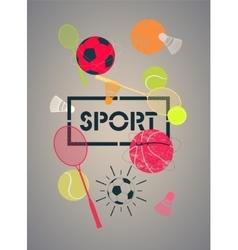 Sport poster vector image