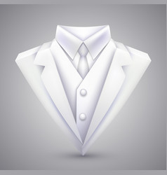 triangle jacket and tie vector image vector image