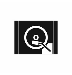 Turntable icon simple style vector image vector image