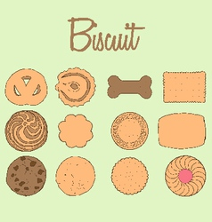 Biscuit Collection vector image vector image