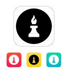 Chess Bishop icon vector image vector image