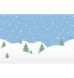 Seamless winter background with falling snow vector image