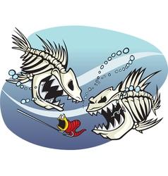 Skelefish vector image