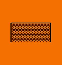 Soccer gate icon vector