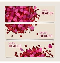 valentine headers set vector image vector image