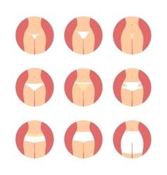 Various types of women panties Underwear vector image vector image
