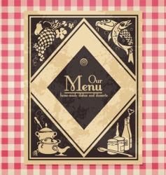 vintage menu or bookcover vector image