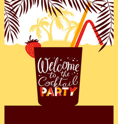 cocktail party holiday invitation background for vector image