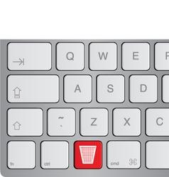 delete or trash key vector image