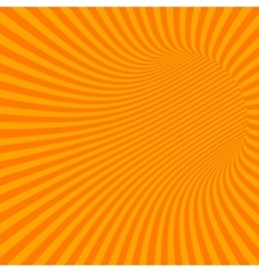 Orange striped abstract tunnel vector