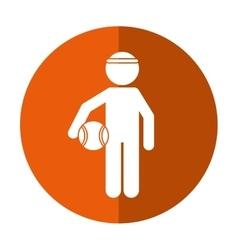 player basketball with headband shadow vector image vector image