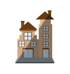 real estate apartment building shadow vector image