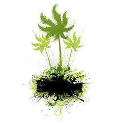 tropical vegetation vector image