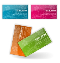 collect business cards vector image vector image