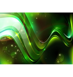 Green dotted composition vector image