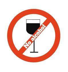 No alcohol vector image vector image