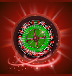 realistic casino gambling roulette wheel isolated vector image