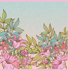abstract flower background with text place vector image