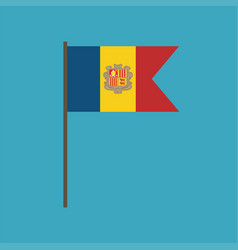 andorra flag icon in flat design vector image