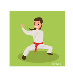 Beautiful women with karate fight poses vector