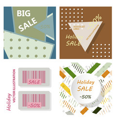 Big sale banner with ribbon vector