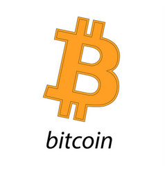 Bitcoin logo of crypto currency isolated on white vector