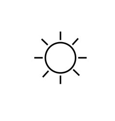 Brightness icon vector