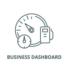 Business dashboard line icon linear vector