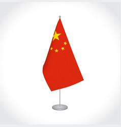 China flag on white background vector