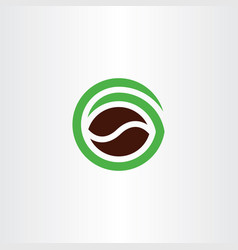 coffee bean logo natural organic symbol icon vector image