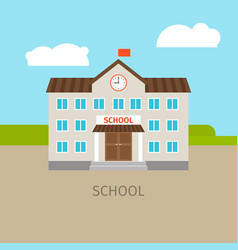 Colored school building vector