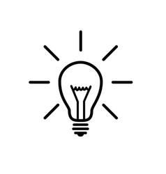 conceptual lightbulb silhouette idea icon vector image