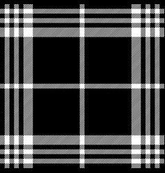 Dark simle seamless pattern black white tartan vector