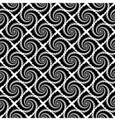Design seamless monochrome vortex pattern vector