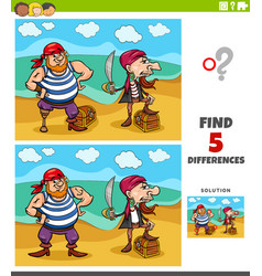 differences educational task for kids vector image