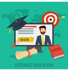 DISTANCE EDUCATION CONCEPT vector