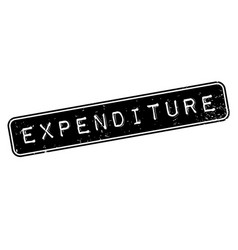 expenditure rubber stamp vector image