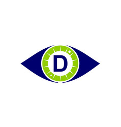 eye care solutions letter d vector image
