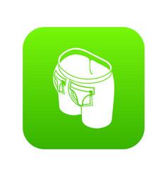 fashion pocket on back icon green vector image
