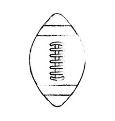 Figure american football tool to play the sport vector