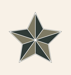 Flat style retro star icon vector