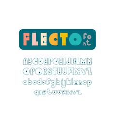 Flecto vintage line art font with editable stroke vector
