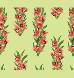 floral seamless pattern flower ohrid bouquet vector image