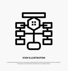 Flowchart flow chart data database line icon vector
