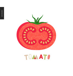 food patterns vegetable fruit tomato vector image
