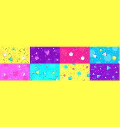 Funky 90s memphis background abstract hipster vector