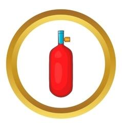 Gas hand grenade icon vector