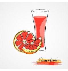 grapefruit juice vector image