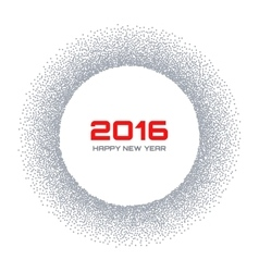 Gray Frame New Year 2016 Snow Flake Circle vector